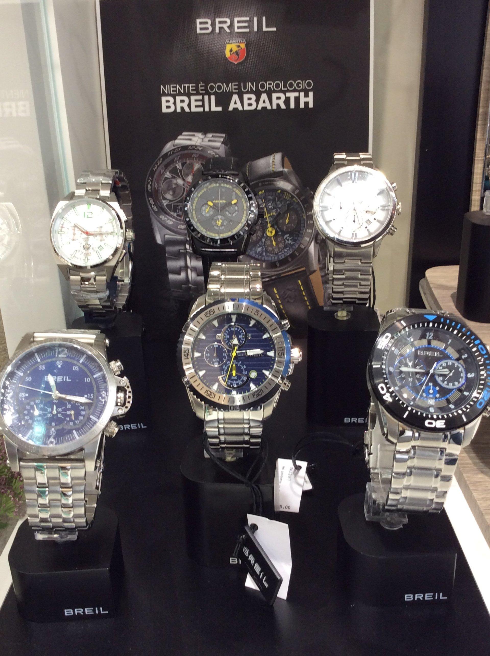 Esposizione orologi Brei Abarth