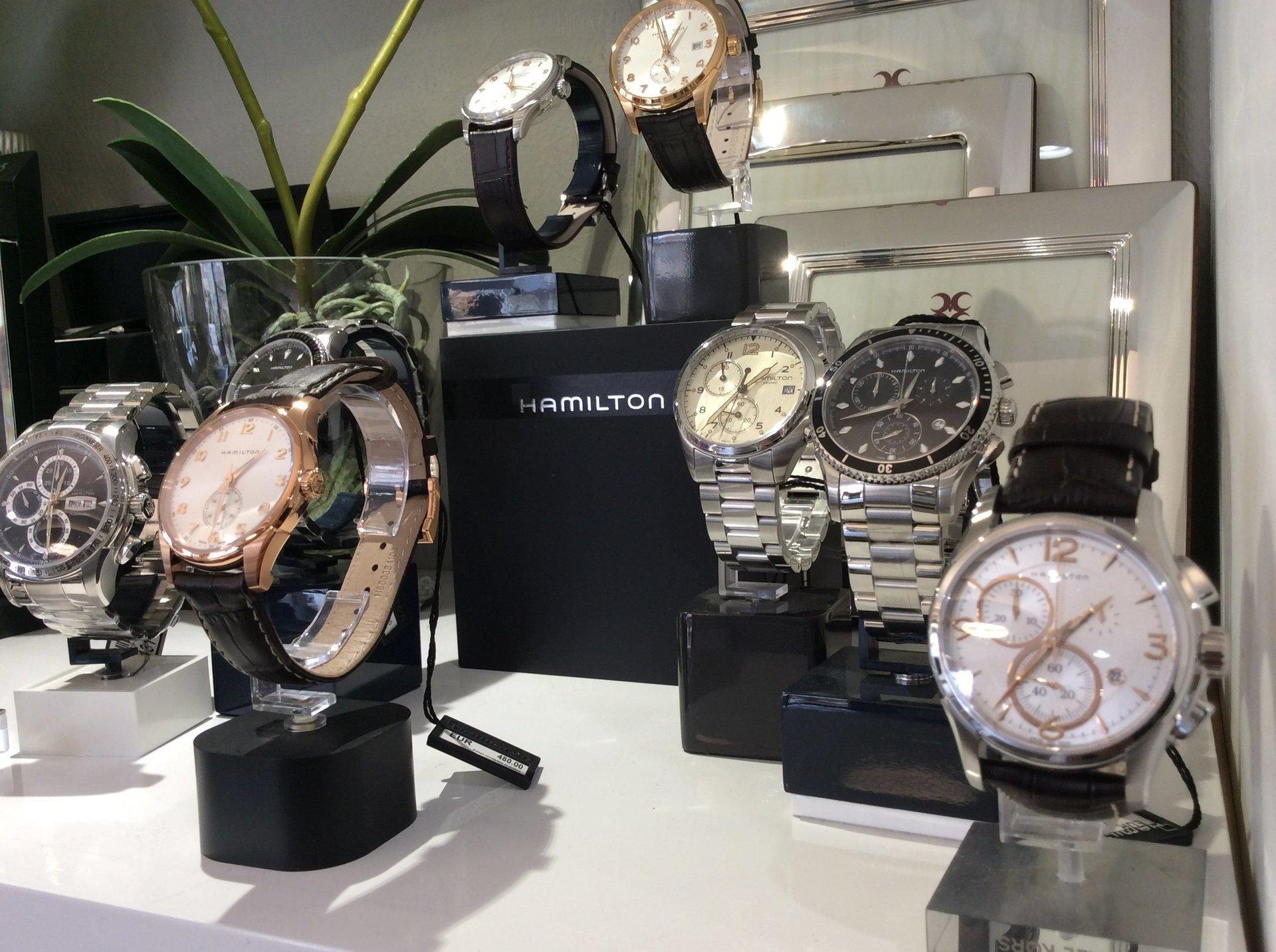 esposizione orologi Hamilton