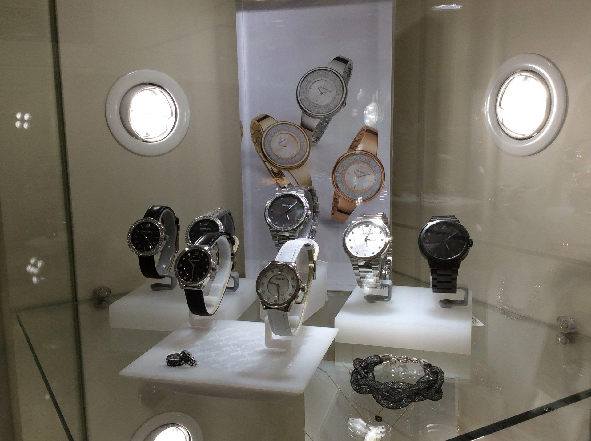 Esposizione orologi d'oro o con altri preziosi