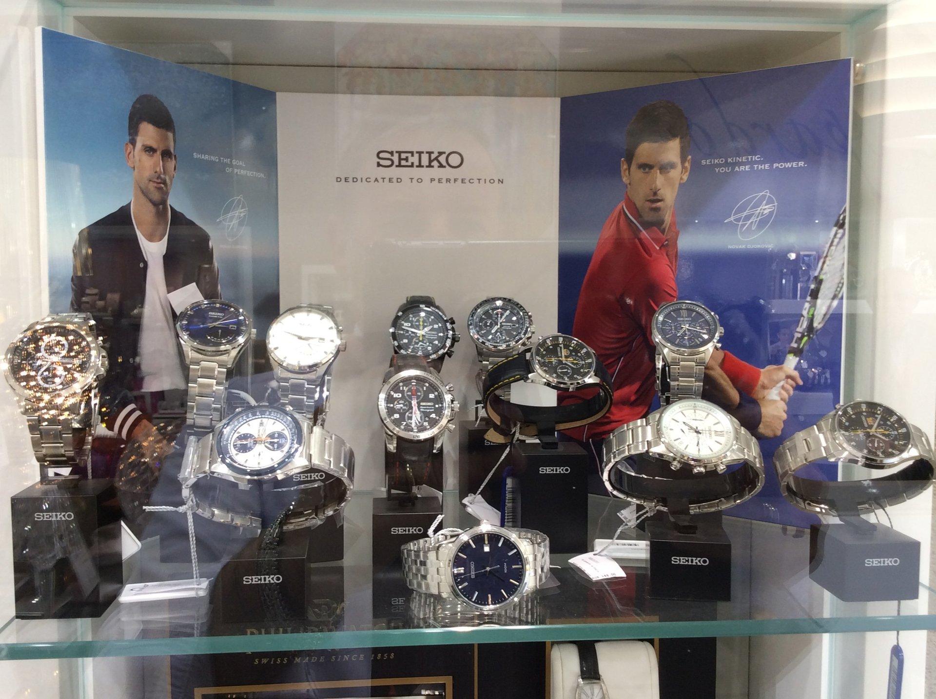 Esposizione orologi Seiko