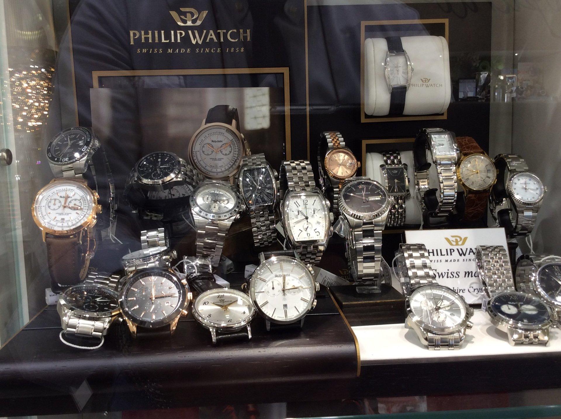 Esposizione orologi Philip Watch