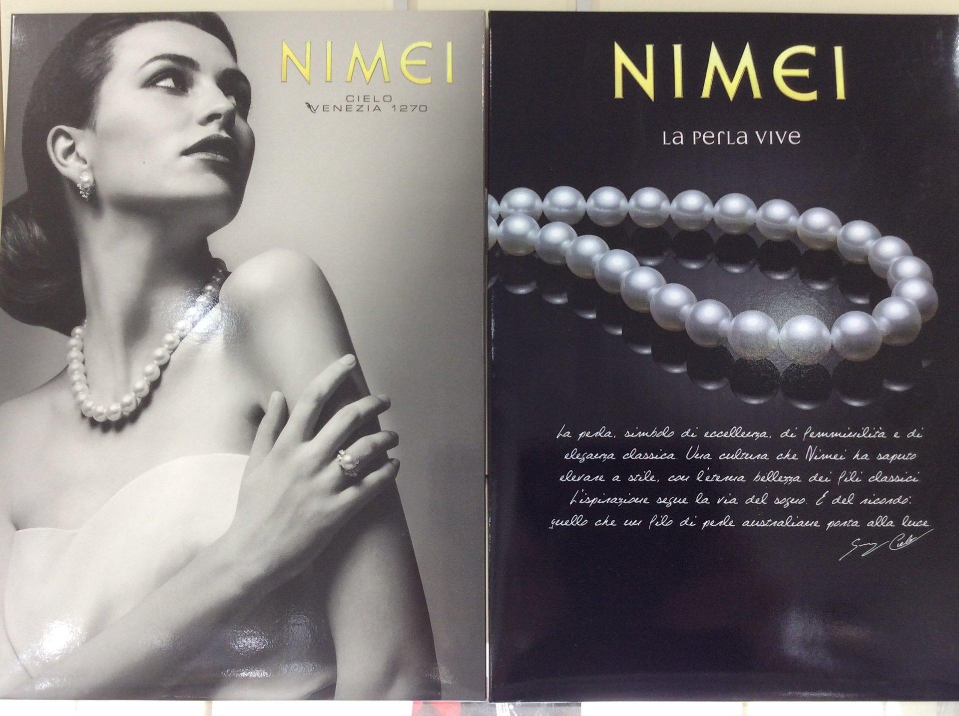 brochure promozionale nuova collezione Nimei