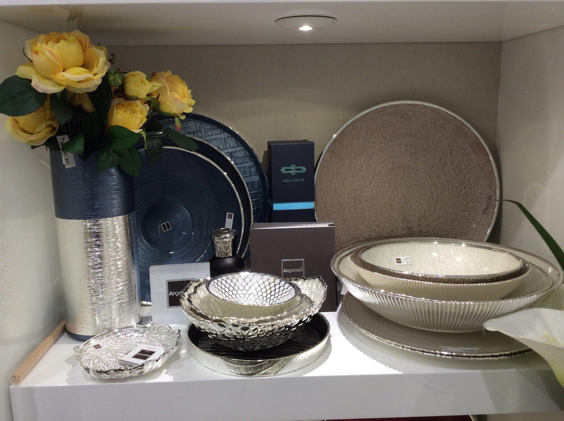 servizio da tavola in argento da collezione