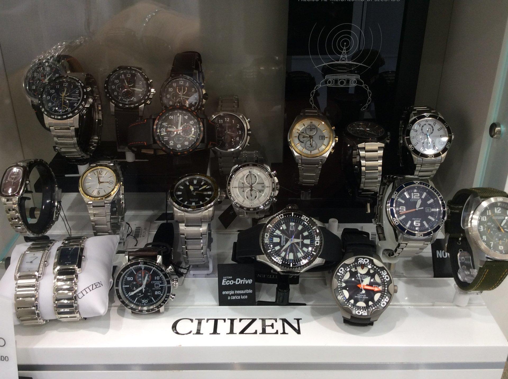 Esposizione orologi Citizen
