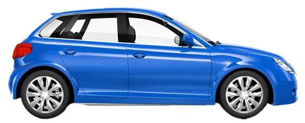 Blue car after a service