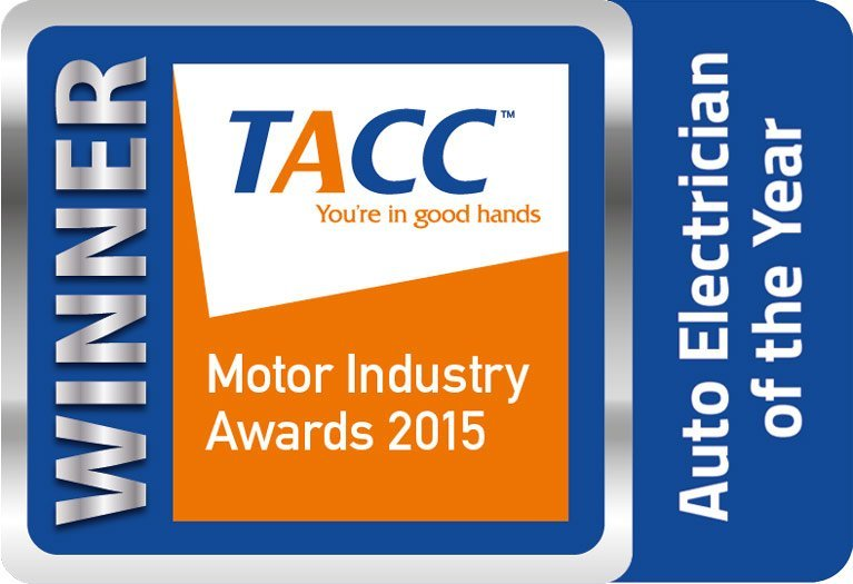 Auto electrician of the year at TACC Motor Industry Awards 2015