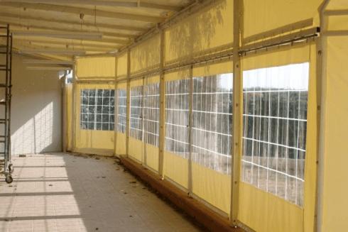 coperture con finestre cristal