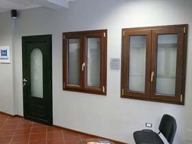 parete interna con finestra in PVC