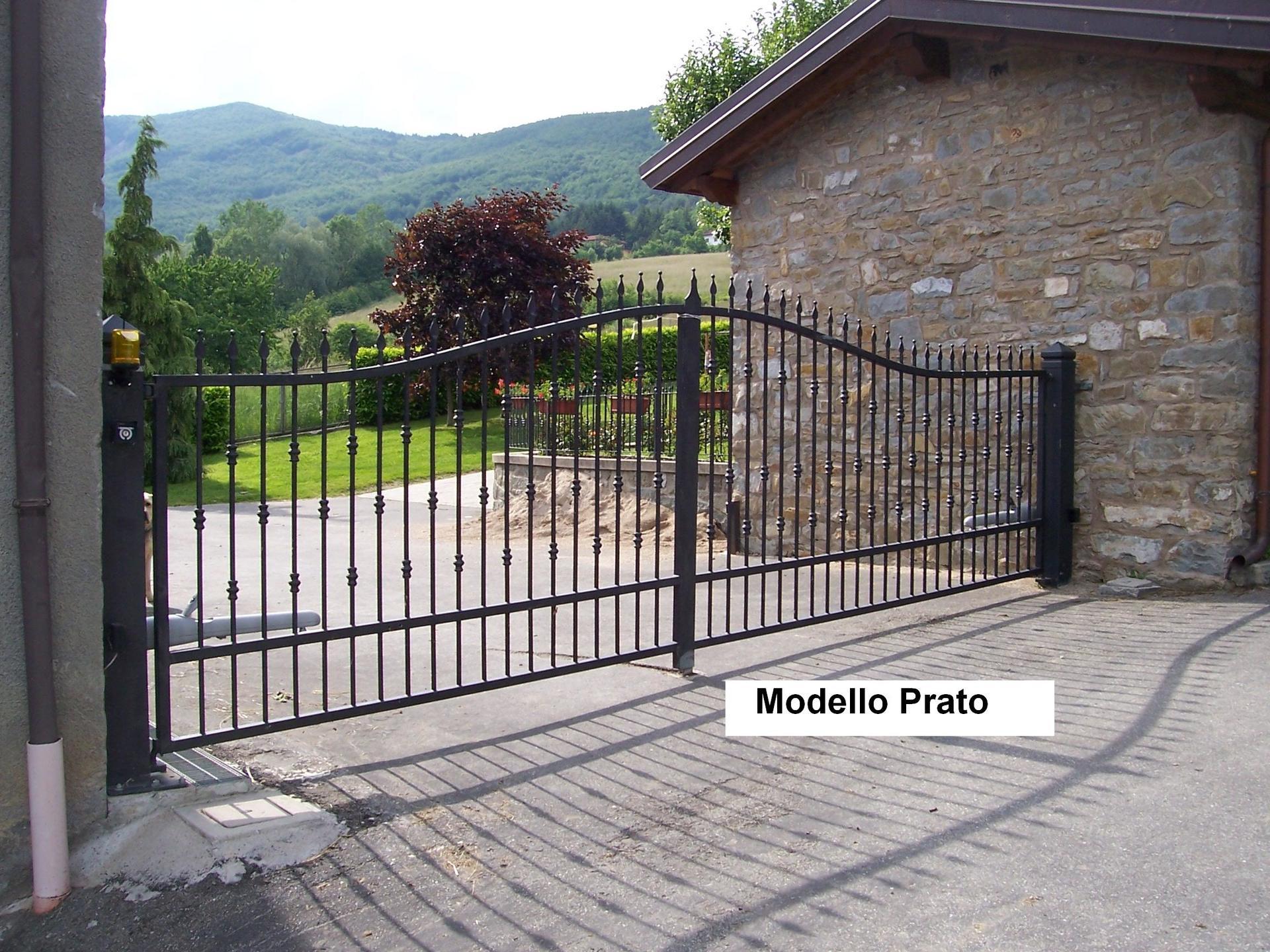 Cancello in ferro per giardiono Modello Prato