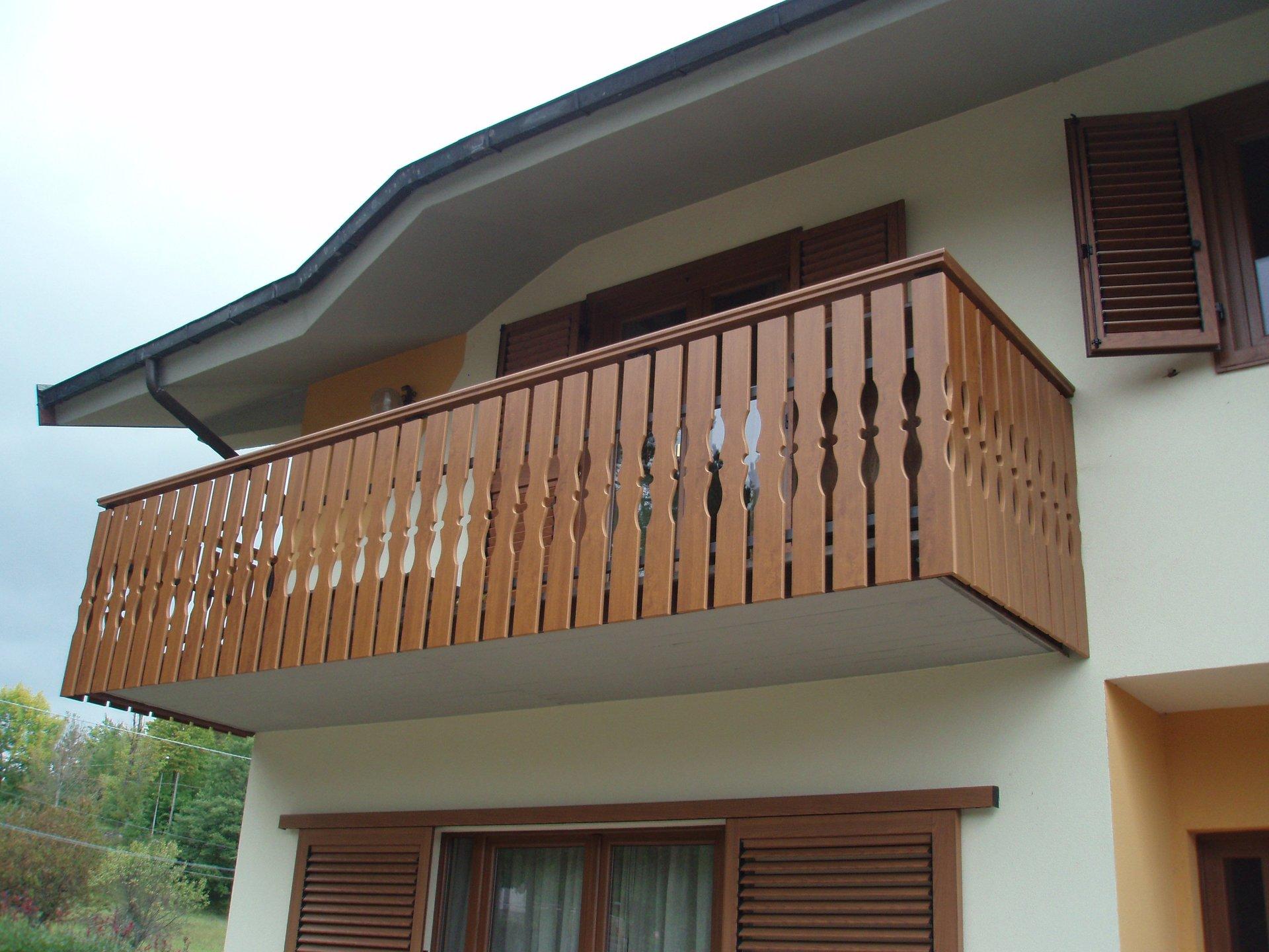 Ringhiera in balcone di una casa