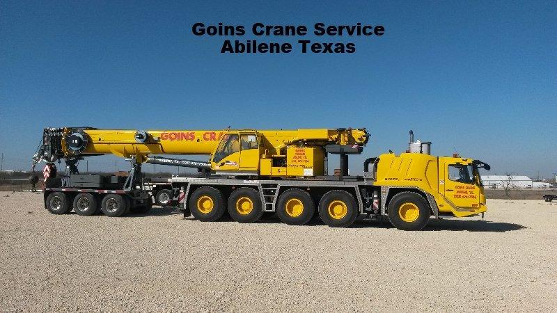 Goins Crane Service Abilene Texas