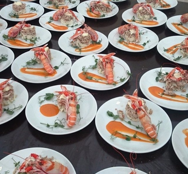 Prawns starter, Red Poppy Catering