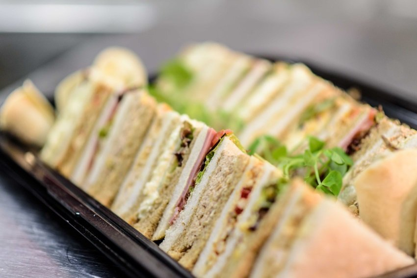 Red Poppy Catering sandwiches