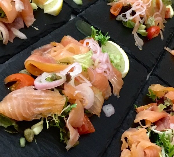 Salmon starter, Red Poppy Catering