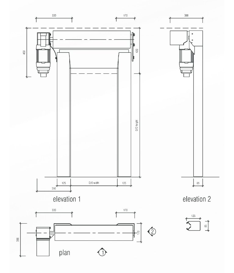 S1000 technical drawing
