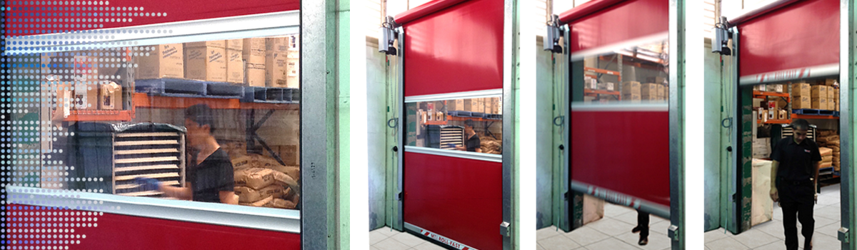 SI 163VSD roll-fast door in red