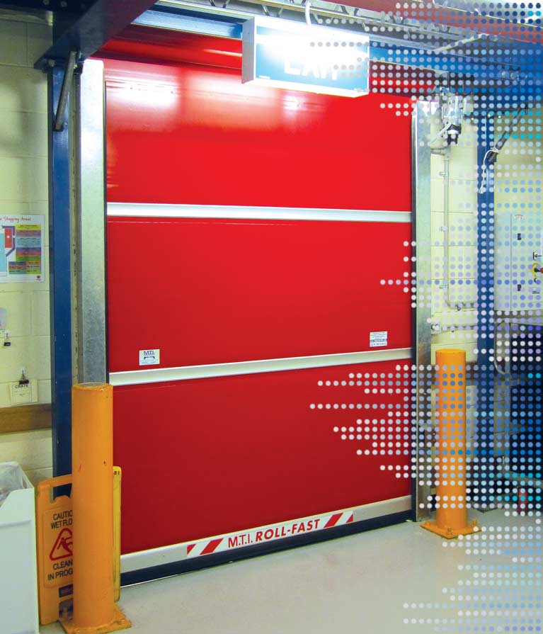 S900 Freezer roll-fast door in red