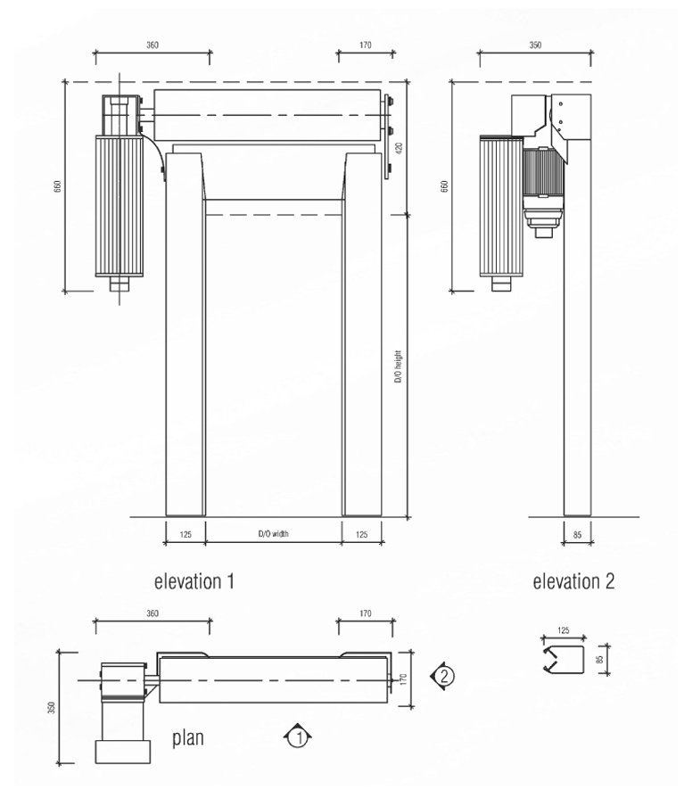 SI 163VSD technical drawing