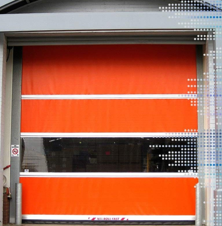 S1300 roll fast door in orange
