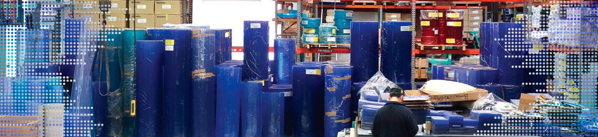 PVC Rolls in M.T.I. Factory