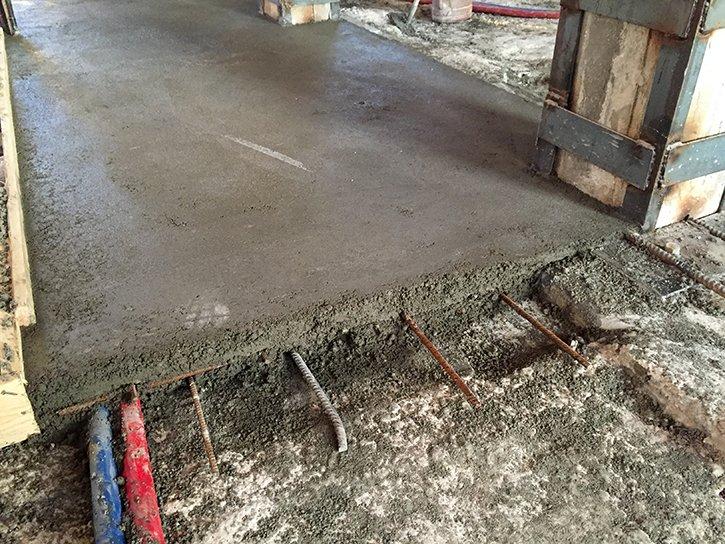 Profilo del suolo con i materiali collocate
