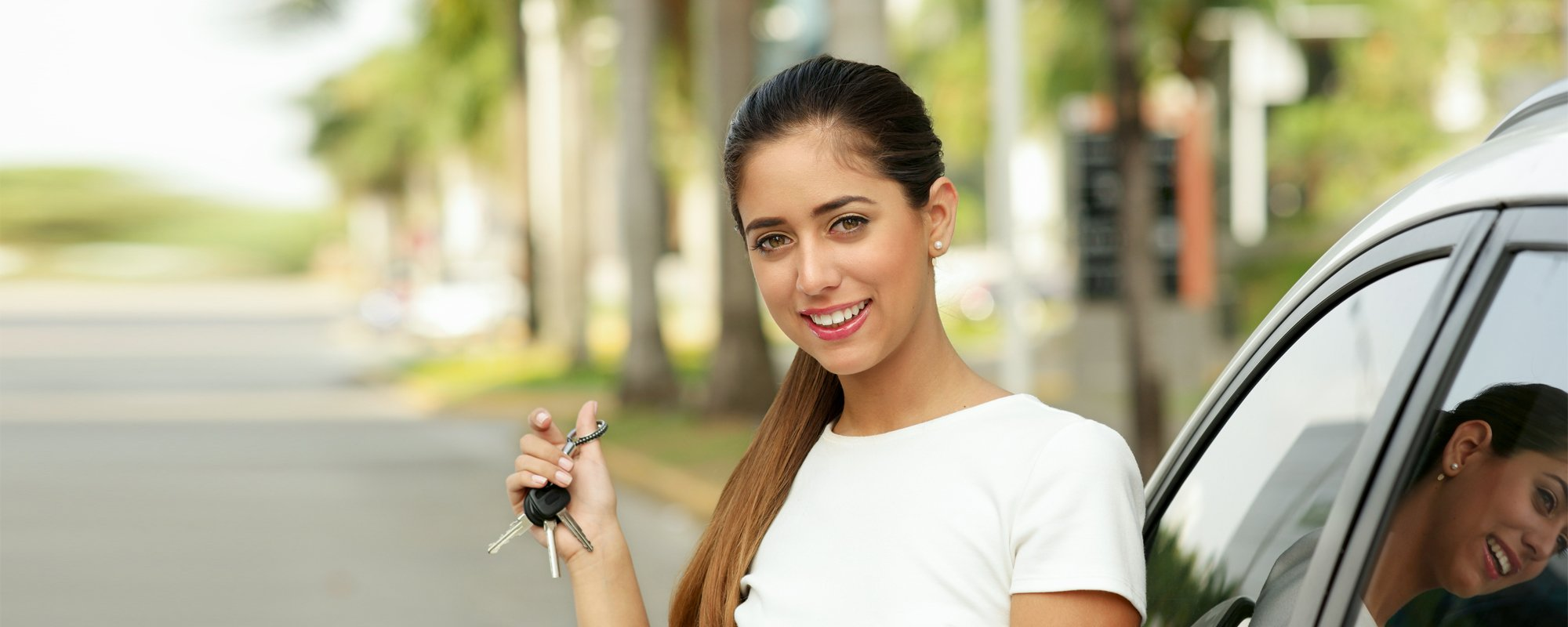 Young Lady holding car keys