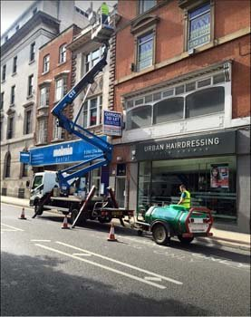 Maintenance work being done by expert