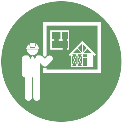 General construction and floorplan icon