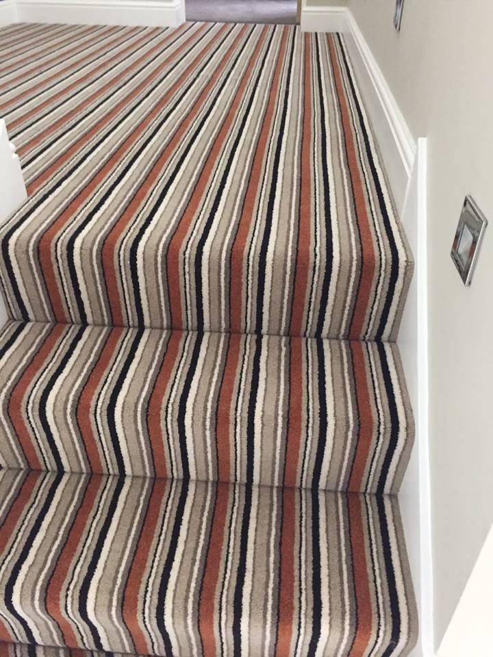 steps carpet