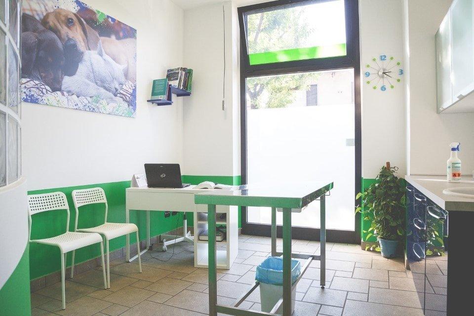 sala d'aspetto della clinica