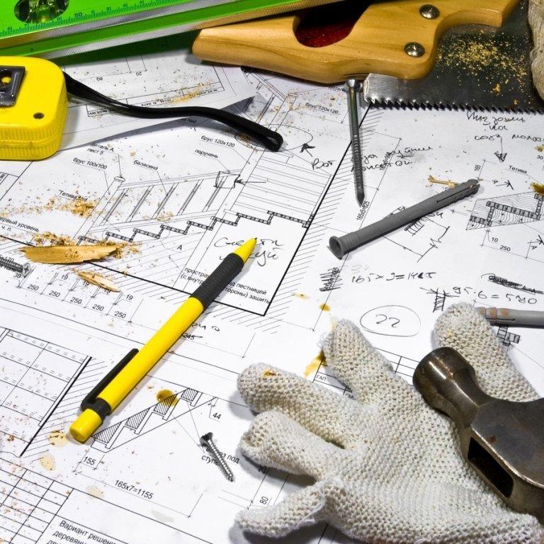 disegno tecnico e attrezzature da lavoro