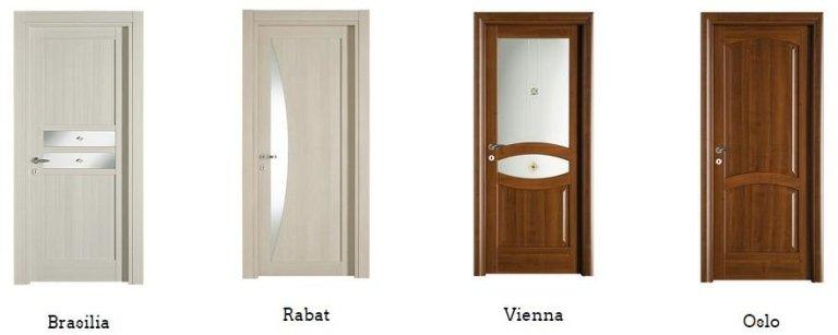 porte massellate Brasilia, Rabar, Vienna, Oslo