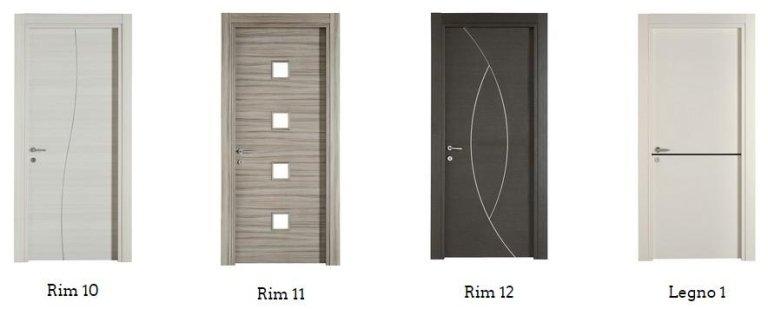 porte tamburate RIM 10,11,,12, LEGNO 1`