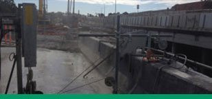 Kwik Cut Gateway Motorway upgrade at Deagon concrete slab saw Gold Coast