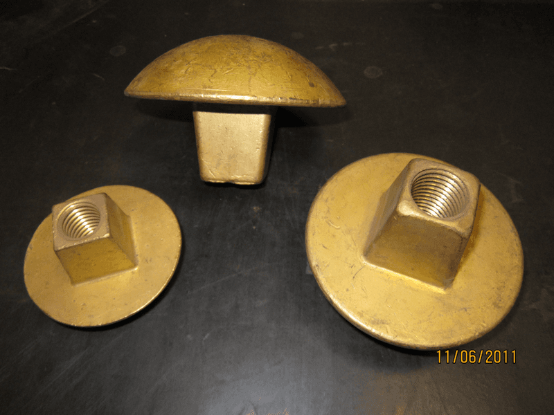 bronze heads for bolts M 18, M 22, M 24