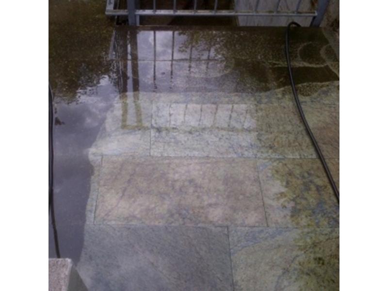 lavaggio vialetto esterno prima