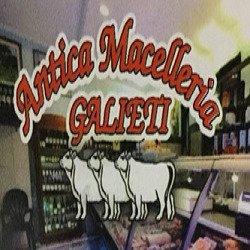ingresso della macellaria Galieti con scritta Antica Macelleria galieti