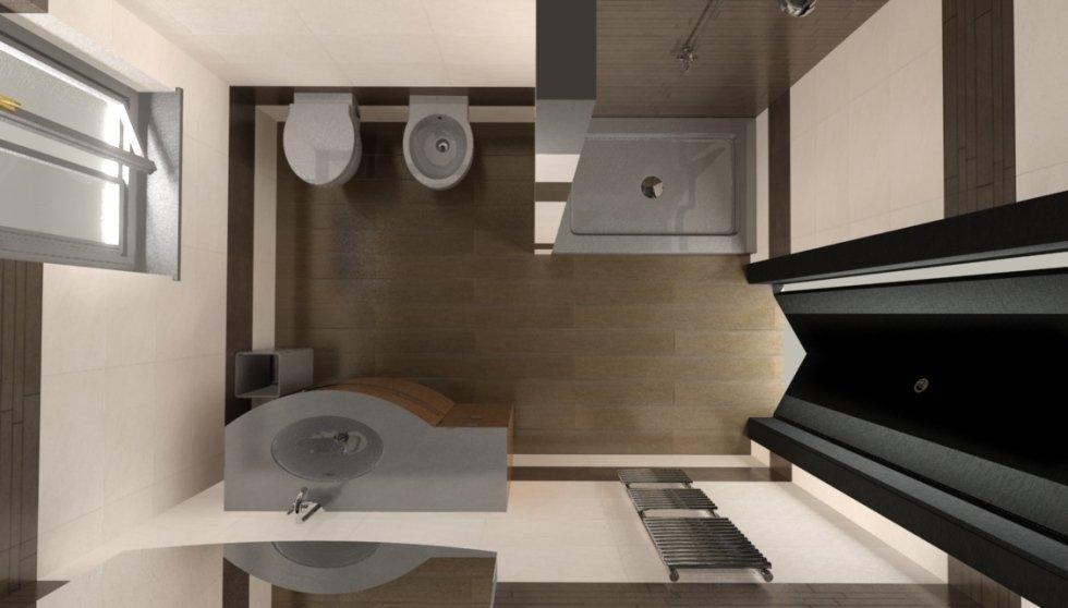 progettazione bagno in 3d - morlupo - roma - ceramica in - Arredo Bagno 3d