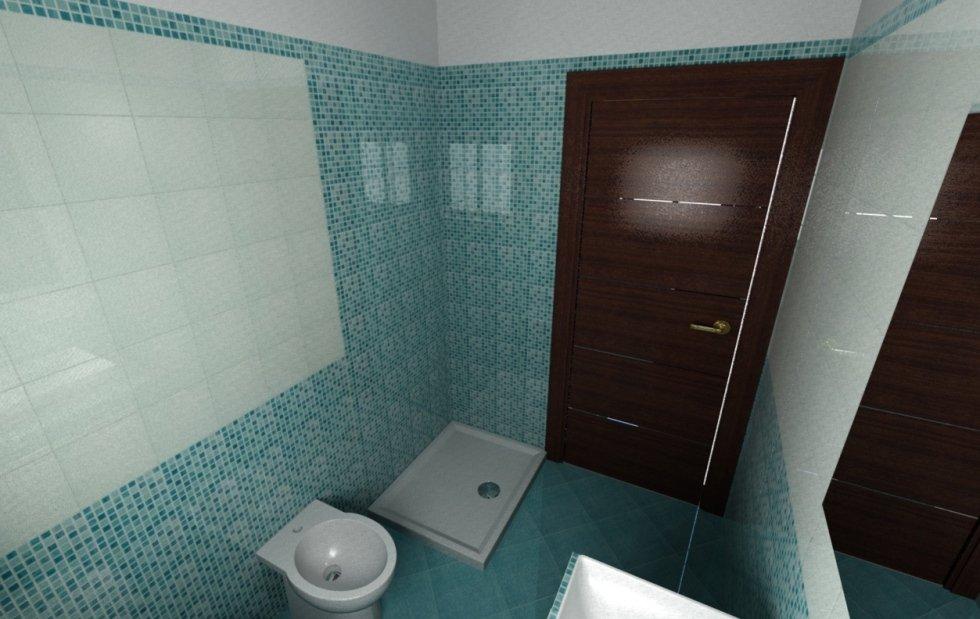 progettazione, tridimensionale, bagno, Morlupo