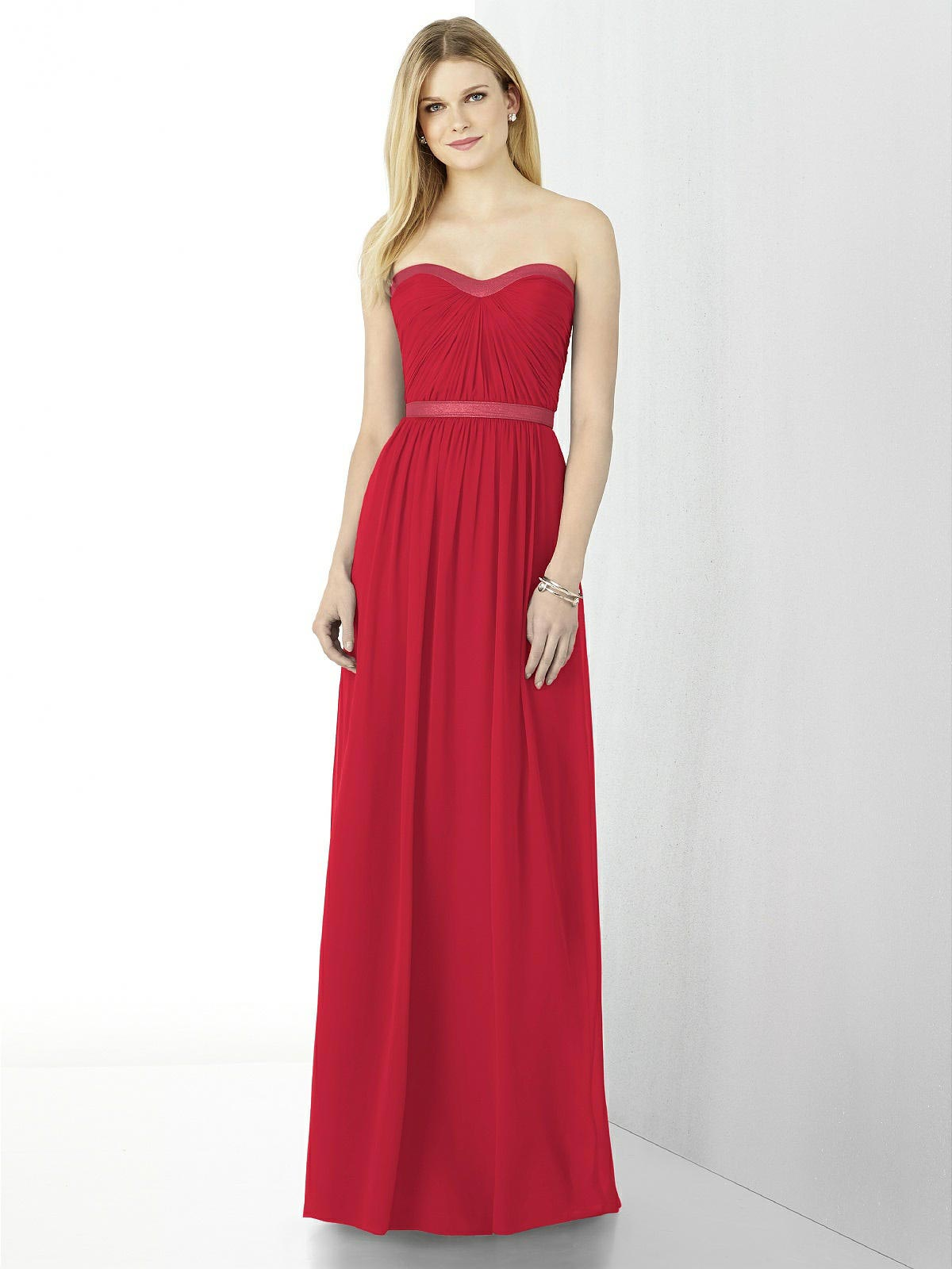 la belle bridal boutique bride in bright red gown