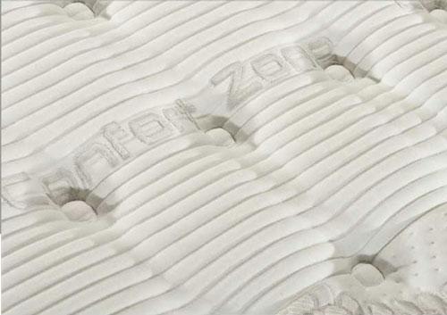 un materasso con scritto comfort zone
