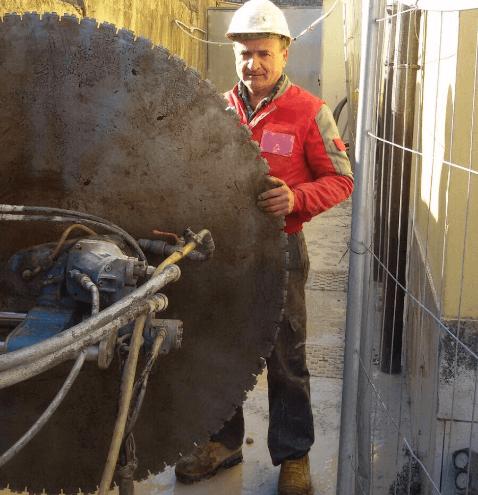 taglio muri in cemento armato