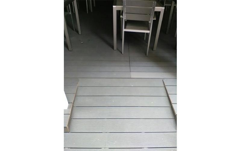 Pavimentazione esterna ristorante