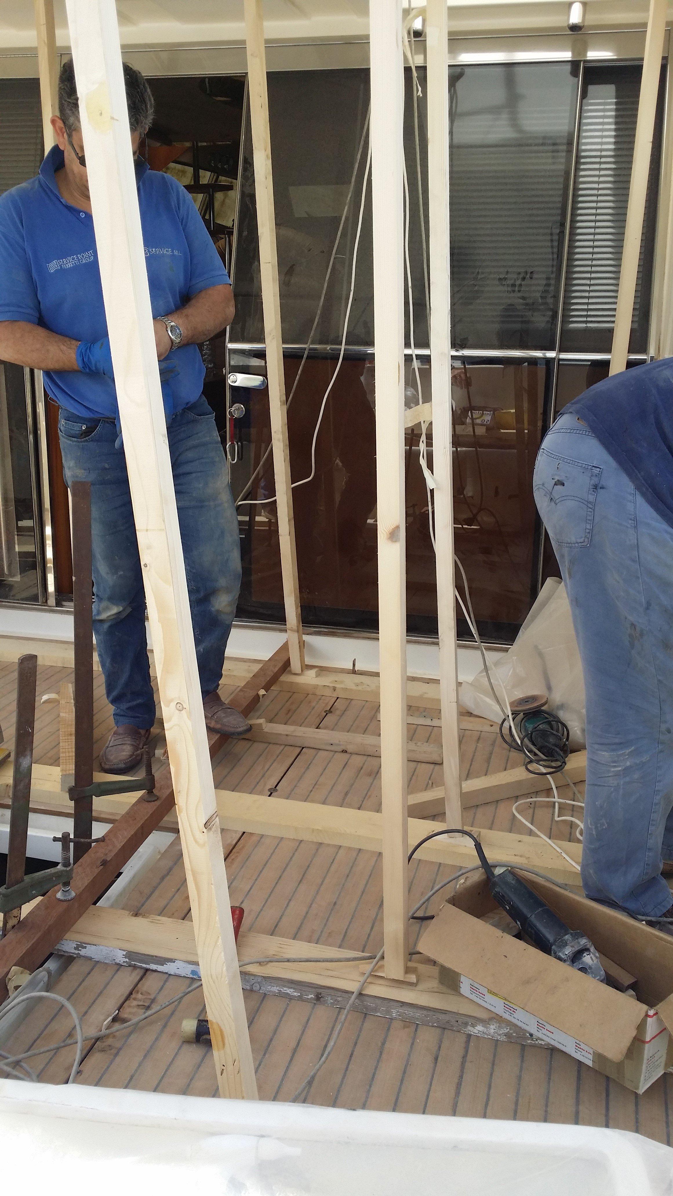 incollaggio vetrate yacht