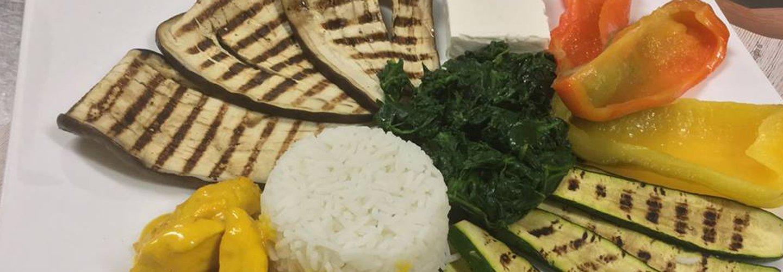verdure grigliate e riso