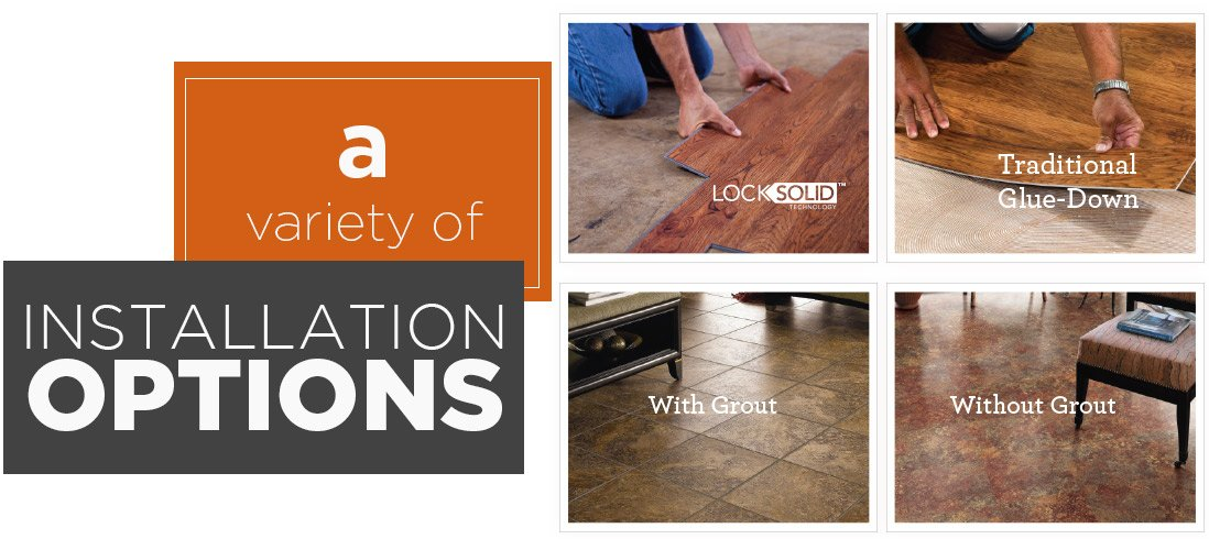 Luxury Vinyl Tile Installation Options