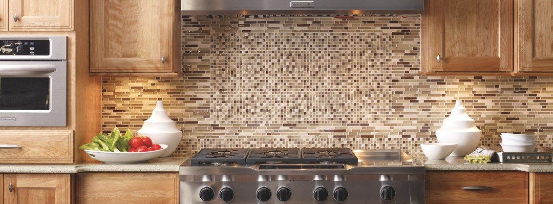 Ceramic Glass Tile Backsplash