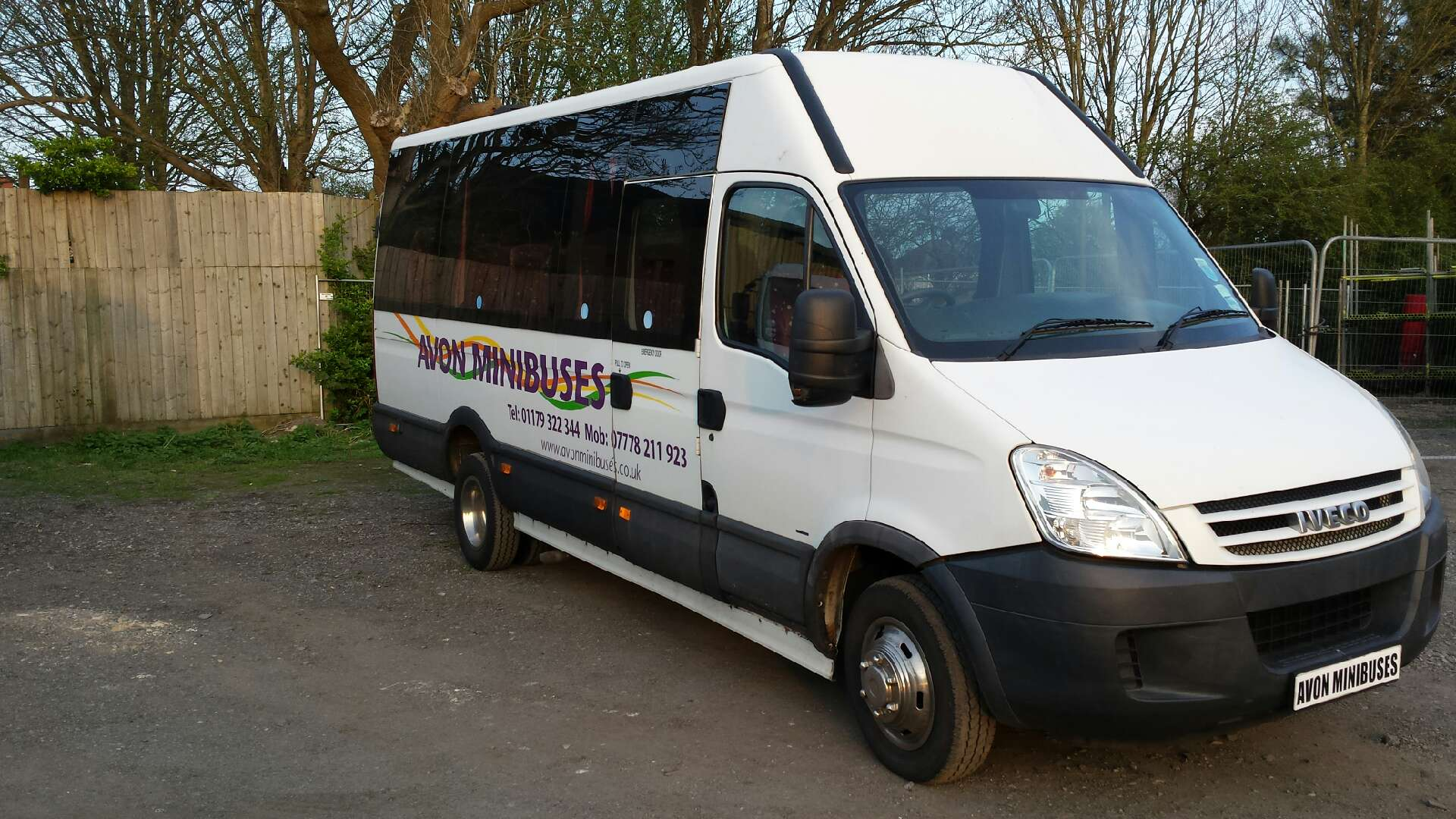 spacious minibus for hire