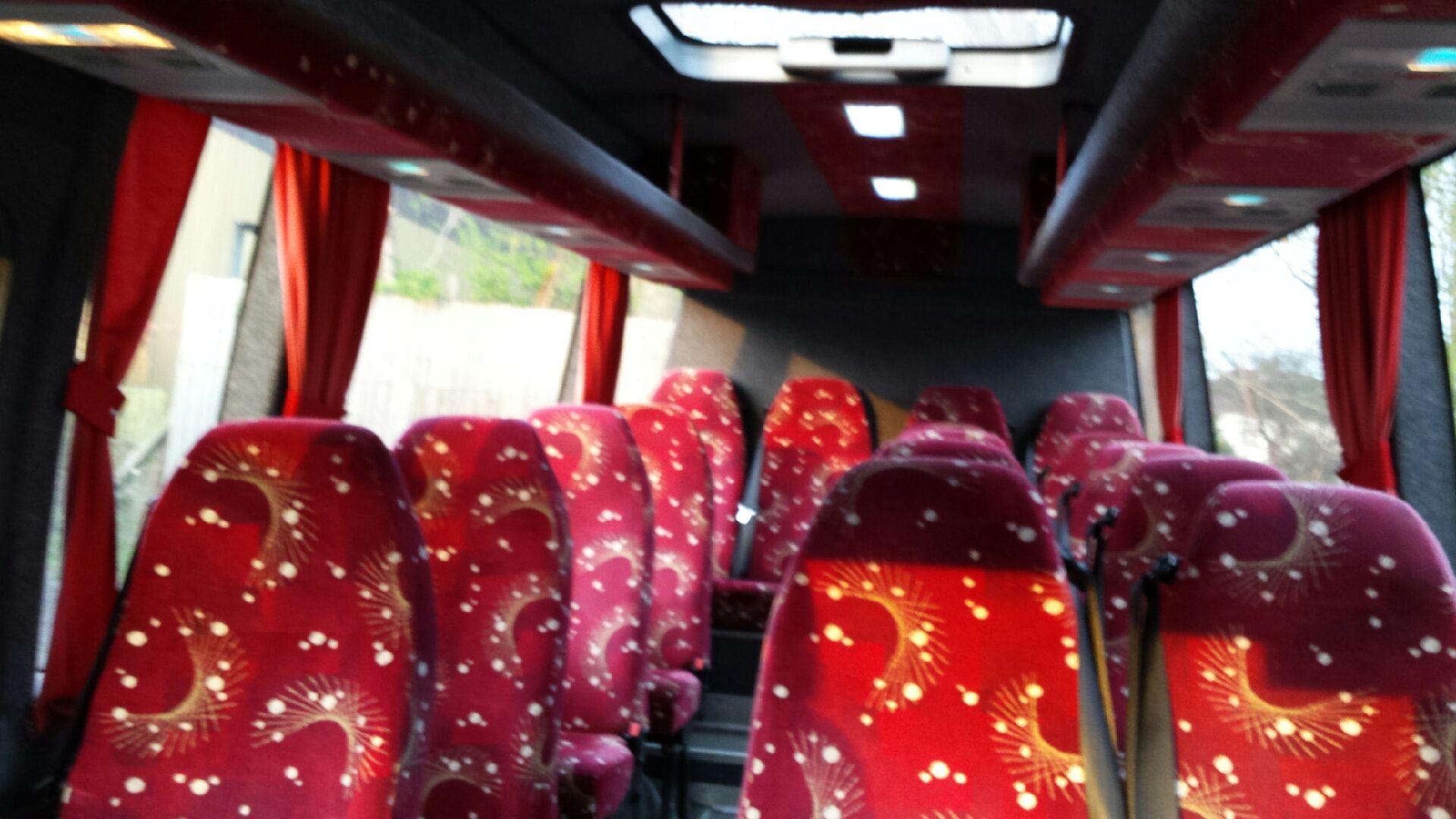 red minibus seats