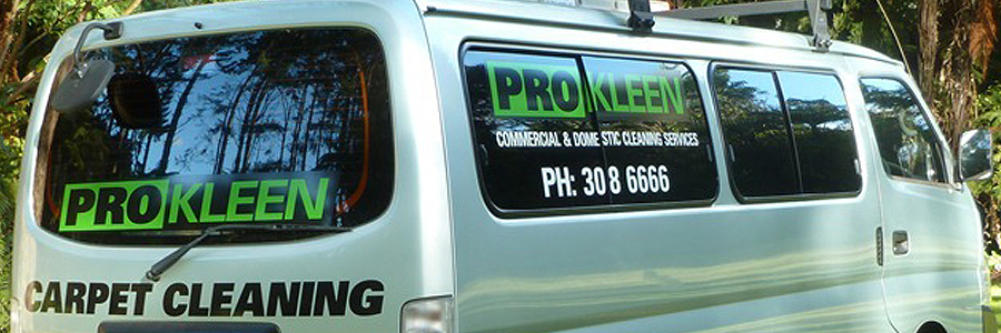 A Cleaning services van in the Eastern Bay of Plenty area